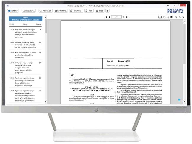 Katalog propisa 2016 - Elektronska arhiva skeniranih službenih glasila