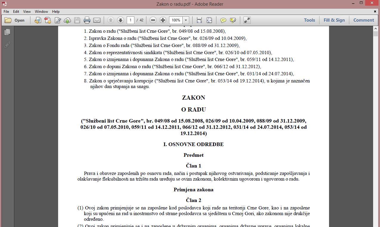 Katalog propisa 2016 - Tekst propisa Crne Gore u PDF formatu