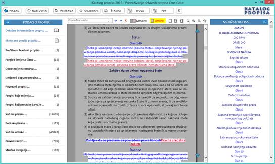 Katalog propisa - Prikaz izmjene kroz propis