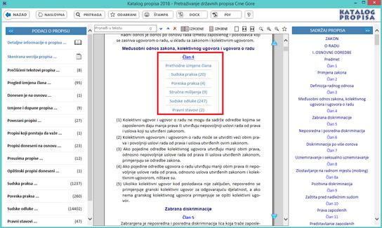 Katalog propisa - Pretraga po oblastima hijerarhija