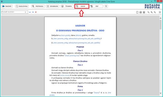 Katalog propisa - Modeli ugovora DOCX