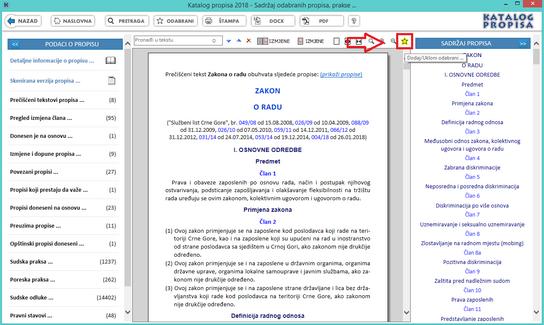 Katalog propisa - Dodaj odabrani propis